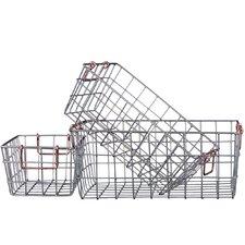 3 Piece Rectangular Nesting Wire Basket Set