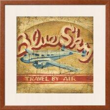'Blue Sky Travel' by Ethan Harper Framed Graphic Art