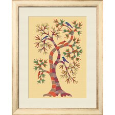 'Tree With Birds' Framed Graphic Art