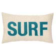 Nautical Applique Surf Lumbar Pillow
