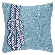 Nautical Hook Knot Throw Pillow