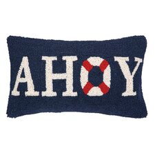 Nautical Hook Ahoy Throw Pillow