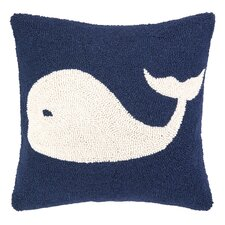 Nautical Hook Whale Throw Pillow