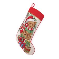 Teddy Bear Needlepoint Stocking
