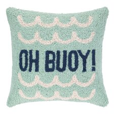 Oh Buoy! Hook Wool Throw Pillow