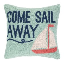 Come Sail Away Hook Wool Throw Pillow
