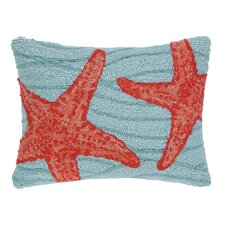 Starfish Hook Wool Boudoir/Breakfast Pillow
