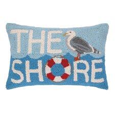 The Shore Seagull Hook Wool Lumbar Pillow