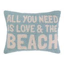 Love and the Beach Hook Wool Lumbar Pillow