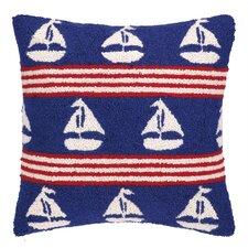 Sailboats Hook Wool Throw Pillow