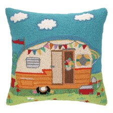 Going Places Trailer Hook Wool Throw Pillow