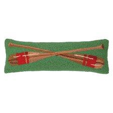 Lake Side Oars Hook Wool Throw Pillow