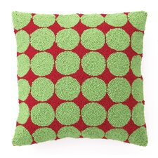 Dots Hook Wool Throw Pillow