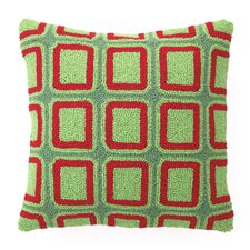Squares Hook Wool Throw Pillow