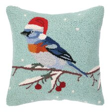 Christmas Bunting Hook Wool Throw Pillow