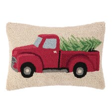 Tree Haul Hook Wool Throw Pillow