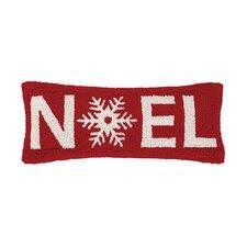 Noel Christmas Hook Wool Throw Pillow