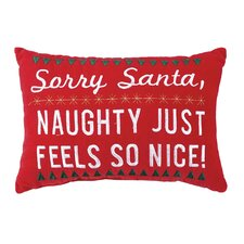 Naughty Feels Nice Lumbar Pillow