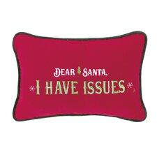 Dear Santa Lumbar Pillow