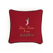 Dear Santa I Can Explain Throw Pillow