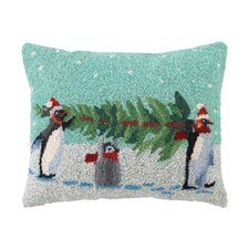 Carry That Tree Hook Wool Throw Pillow