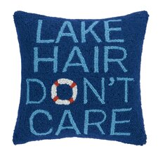 Lake Hair Don't Care Wool Throw Pillow