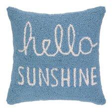 Hello Sunshine Square Hook Wool Throw Pillow