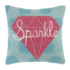 Sparkle Square Hook Wool Throw Pillow
