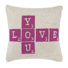 Love You Square Hook Wool Throw Pillow