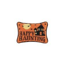 Happy Haunting Needlepoint Wool Lumbar Pillow