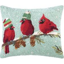 Bird Hook Wool Throw Pillow