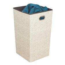 Celessence Crisp Folding Laundry Hamper with Metal Eyelet Handle