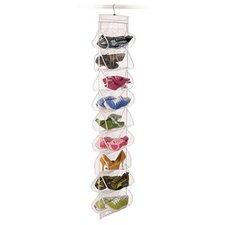 Clear Vinyl Storage 18-Pocket Hanging Shoe Organizer
