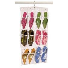 Clear Vinyl Storage 12-Pocket Hanging Shoe Organizer