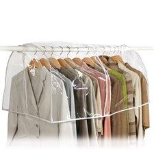 Clear Vinyl Storage Closet Garment Bag