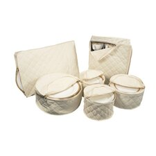 6 Piece Tabletop Cotton Dinnerware Storage Set