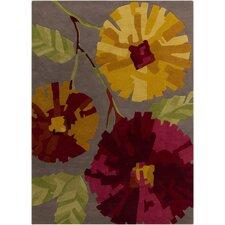 Harlequin Dark Brown Floral Area Rug