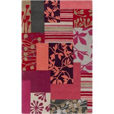 Harlequin Red Floral Area Rug