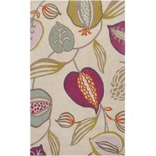 Harlequin Cobble Stone Ivory Floral Area Rug