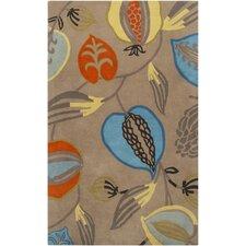 Harlequin Brindle Dark Beige Floral Area Rug