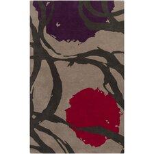 Harlequin Taupe Floral Area Rug