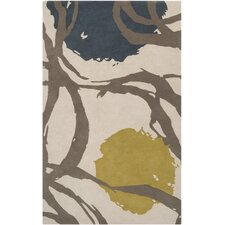 Harlequin Oatmeal Taupe Floral Area Rug