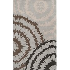 Harlequin Silvered Light Grey/Brown Floral Area Rug