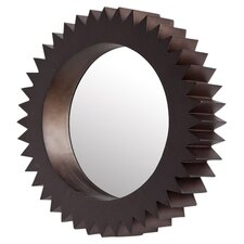 """Cog 19"""" Wall Mirror in Brown"""