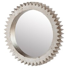 Cog Wall Mirror in White