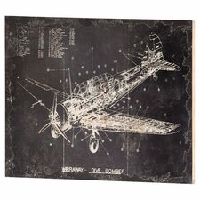 Dive Bomber Wall Decor Graphic Art Plaque