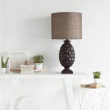 """Velutinia 36"""" H Table Lamp with Drum Shade"""