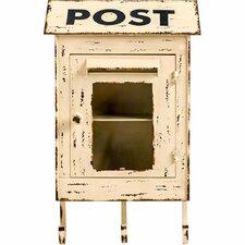 Post II Wall Mounted Mailbox with Coat Hangers