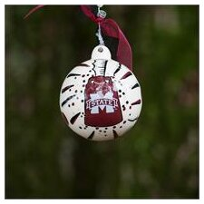 Mississippi State Cowbell Ball Ornament
