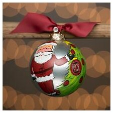 South Carolina Santa Glass Ball Ornament